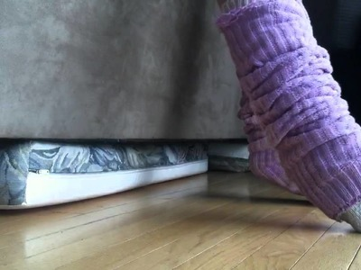 Leg warmers with knit socks