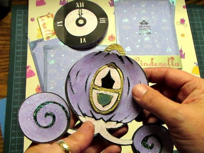Princess Cinderella Scrapbooking Layout Cricut Happily Ever After & Dress up cartridges