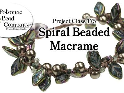 Spiral Beaded Fringe Macrame
