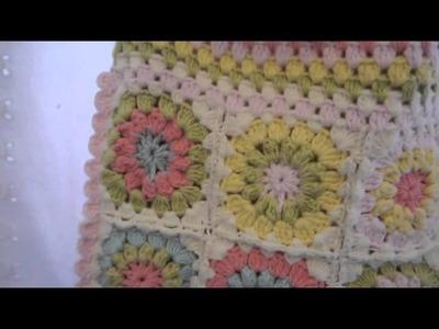 Starburst Crocheted Bag (my way to de-stress)