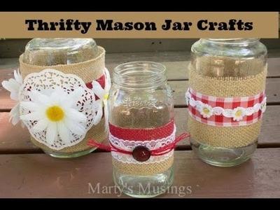 Thrifty Mason Jar Crafts