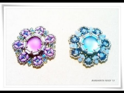 Tutorial perline come fare un ciondolo Urania - beads tutorial how to bezel