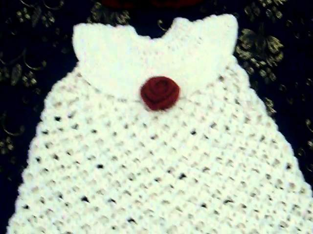 Crochet Baby Dress Solomon's Knot - Art of crochet by Zohra