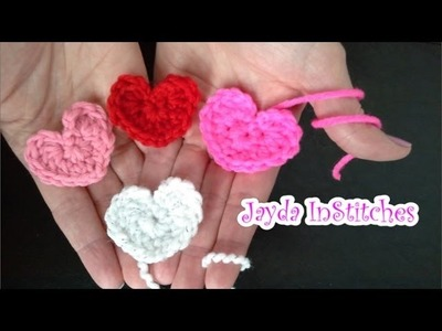 Crochet Mini Heart - Tutorial