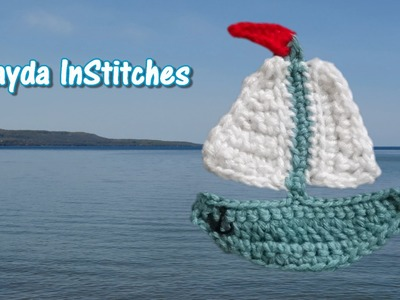 Crochet Sailboat Applique Tutorial - Crochet On The Run!