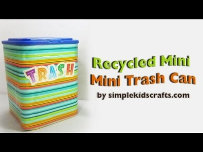 How to make a trash can with a coffee container - EP