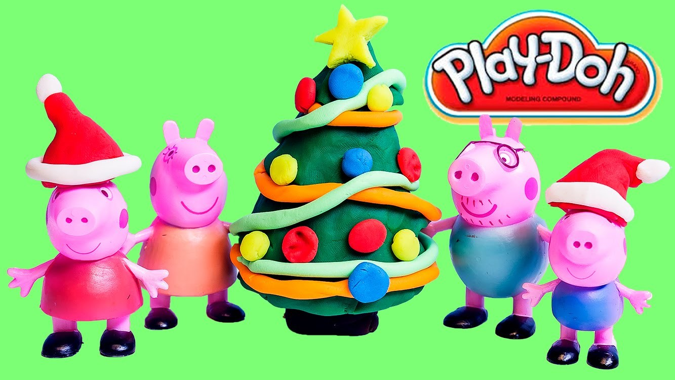 Play Doh Peppa Pig Christmas Tree Play-Doh Crafts Xmas How To Decorate a Christmas Tree Peppa