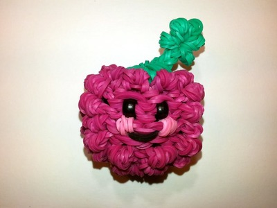 3-D Happy Raspberry (Blackberry) Tutorial by feelinspiffy (Rainbow Loom)