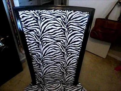 Diy reupholster a chair (zebra print)