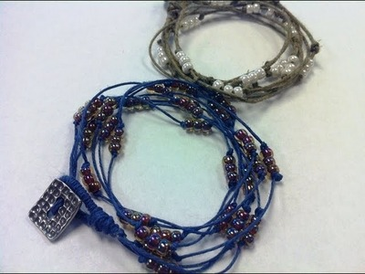 How To Make a DIY Knot Natural Beaded Wrap Bracelet with The Bead Place