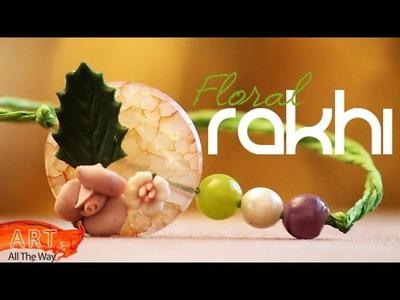 How to make a Rakhi with beads and flowers