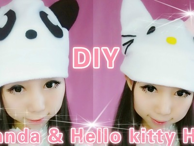 Kawaii DIY - Panda and Hello Kitty Hat (easy)