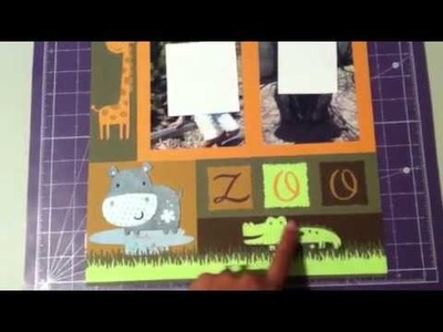 Scrapbook layout w. CTMH cricut cartridge & create a critter