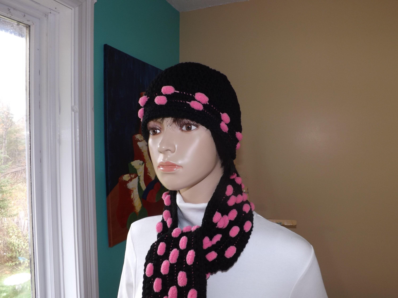 Crochet Gorro con hilo de pompom