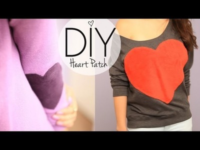 DIY Cute Heart & Elbow Patch Sweater Valentines Day
