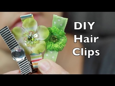 DIY Hair Clip | Covered Alligator Hair Clip Tutorial