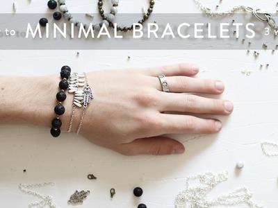 DIY Minimal Bracelets (3 Ways) | Imdrewscott