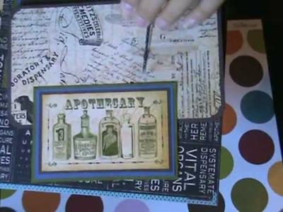 Graphic 45 Olde Curiosity Shoppe 8x8 scrapbook album