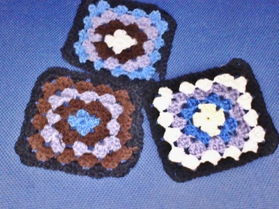 How to crochet granny square into a jacket