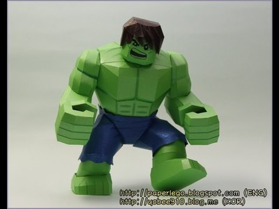 How to make Lego Hulk Papercraft - 7. Leg
