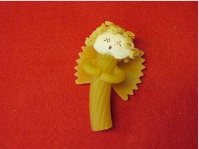 Pasta Christmas Angel Craft
