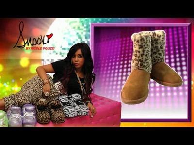 Snooki Sheepskin Leopard Boots - Brown - Snooki Slippers