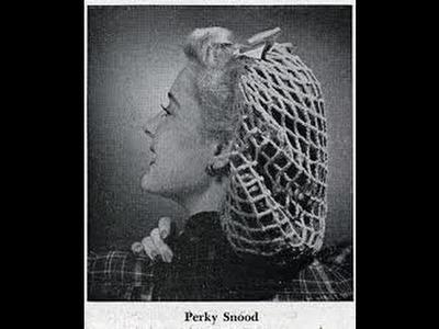 1940's  VINTAGE Perky Snood Crochet Tutorial