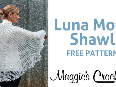 Alpaca Dance Luna Moth Shawl Free Crochet Pattern - Right Handed