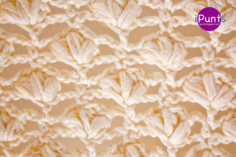 Aprende Punto Flor a crochet (tutorial paso a paso)