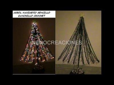 ARBOL Y TEJIDOS NAVIDEÑOS 2011, DECORACION SENCILLA NAVIDAD GANCHILLO CROCHET