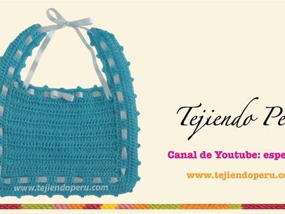 Babero tejido a crochet (crochet bib)