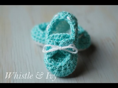 Baby Boat Shoe Booties Crochet Pattern