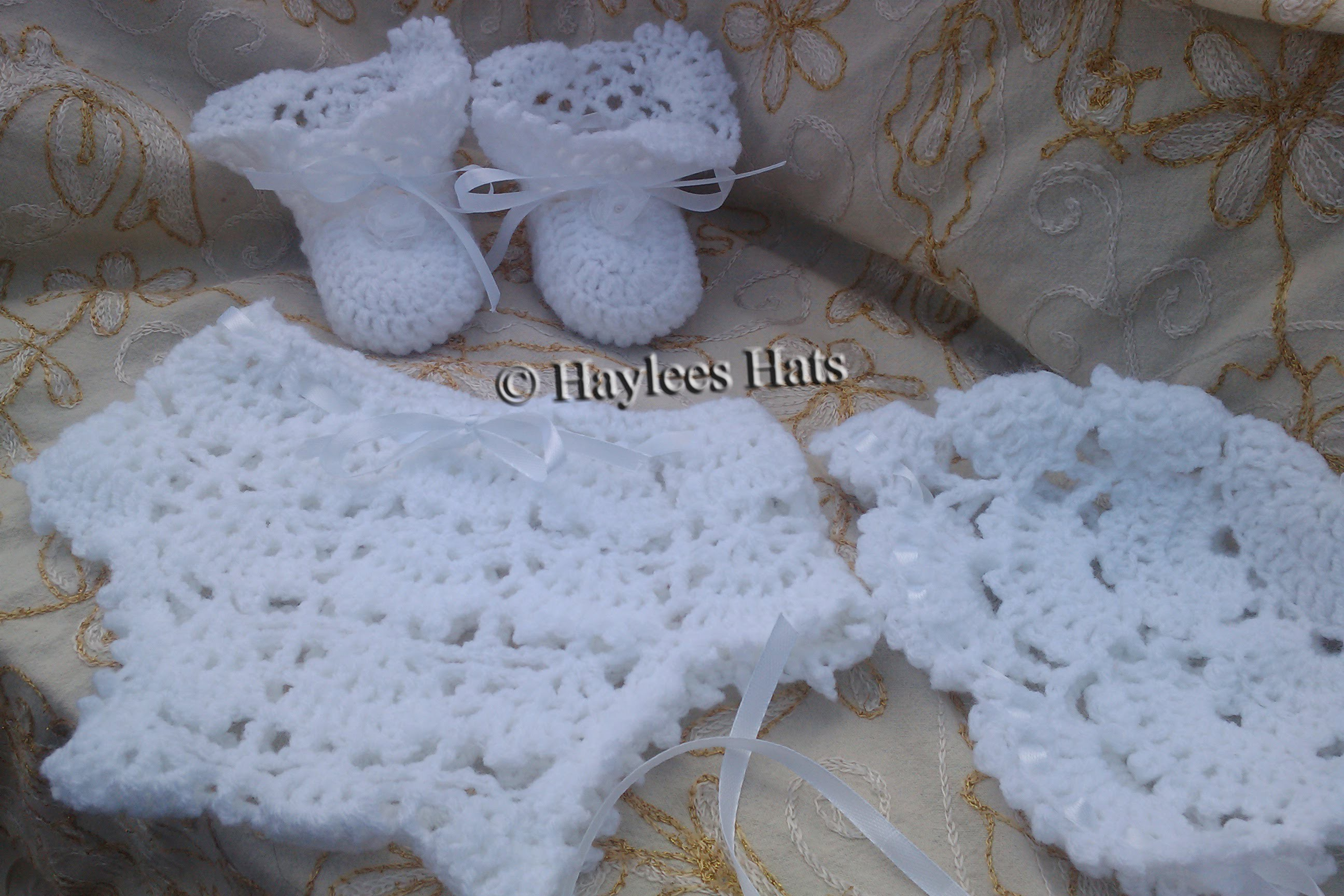 Baby Heirloom crochet set ,baby daisy hat & sweater set| Fresh off tha hook | Haylees Hats