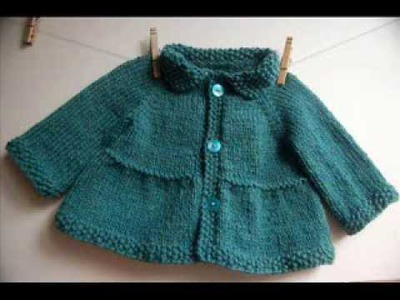 Baby + Toddler Tiered Coat and Jacket - Knitting Pattern Presentation