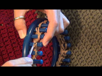 Basket Weave or Block Stitch Pattern on the Knifty Knitter Knitting Loom