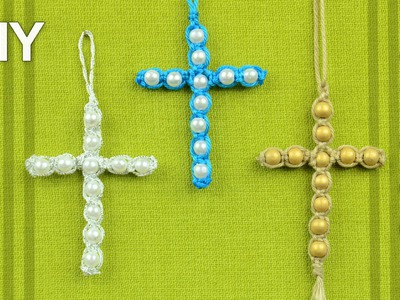 Beaded Macrame Cross. Easy DIY Tutorial