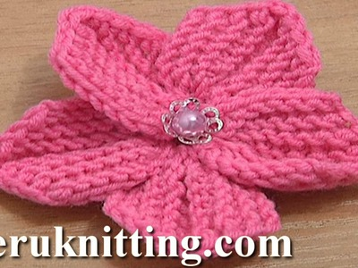 Beautiful Five Petal Flower to Knit Tutorial 10 Knitting Flowers