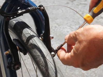 Best V Brake Adjustment - Part 6 - with UPS guy - BikemanforU DIY Tutorial