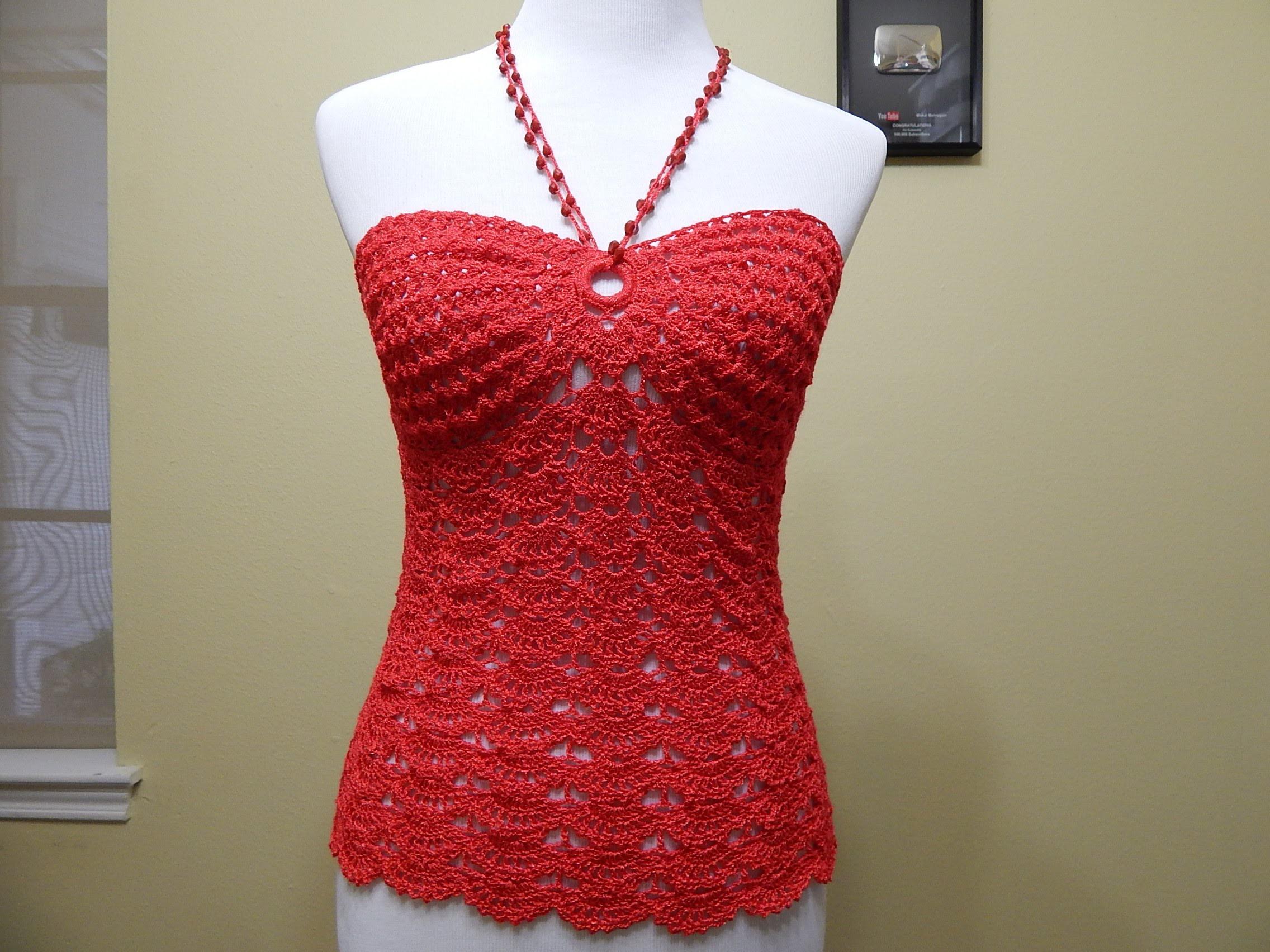 Blusa Coral Crochet parte 1 de 3