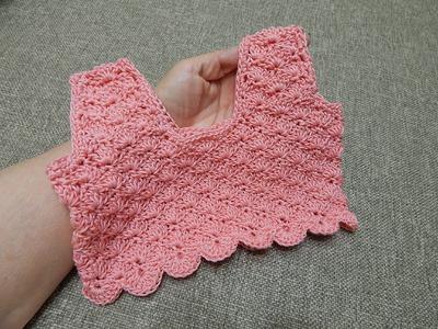 Blusa Corpiño para Vestido 2 Años Crochet