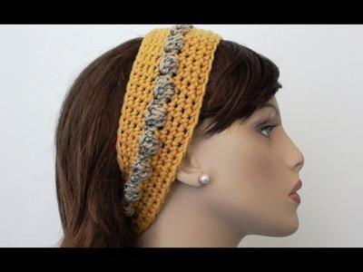 Bobbly Chic Crochet Headband - Crochet Headband