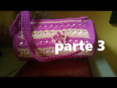 BOLSA TEJIDA A CROCHET PUNTO PERUANO (PARTE 3 DE 3)