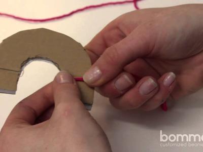 Bommel. PomPom selber machen - Die Halbkreis Methode | DIY Tutorial