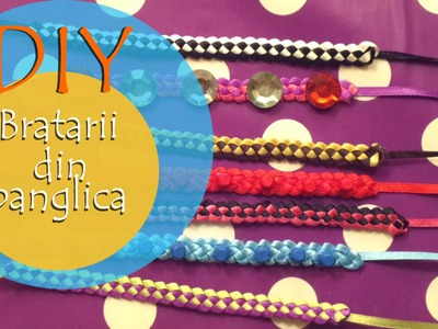 Bratara din panglica ♥ DIY ♥ VIDEO TUTORIAL in Limba Romana