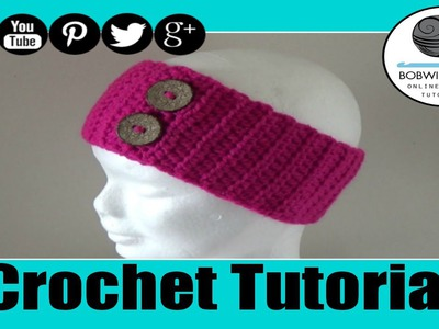 Button Headband Crochet Tutorial