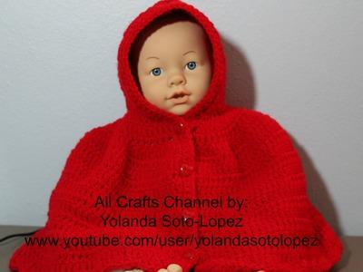 "Capita en #Crochet inspirada por ""capercuita roja"" -video uno"