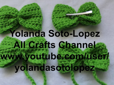 Celebrate St. Paddy's Day, #Crochet Hair Bow or Bow Tie