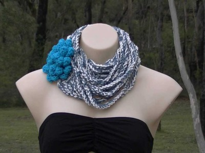 Chain Scarf Crochet Tutorial - Long or Short - Easy Project - Bloopers at the end :)