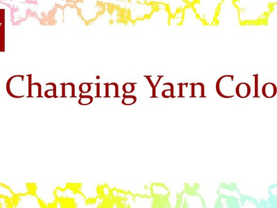 Changing Yarn Color Crochet Stitch Tip