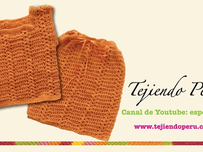 Cómo tejer un conjunto de chaleco y bolsita a crochet para bebés